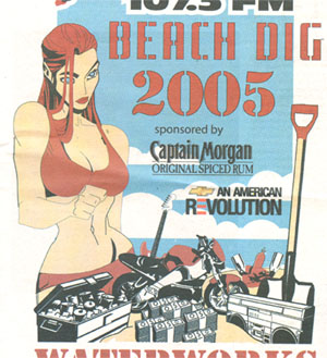 Scan of advertisement for Beach Dig 2005
