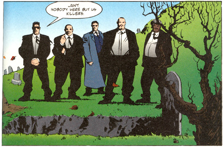 Funeral scene from *Hitman*
