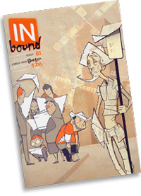 Cover of *Inbound* issue #1, a new comics anthology by the Boston Comics Roundtable