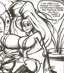 Image of Jhonen Vasquez's parody character Lady Sexhole