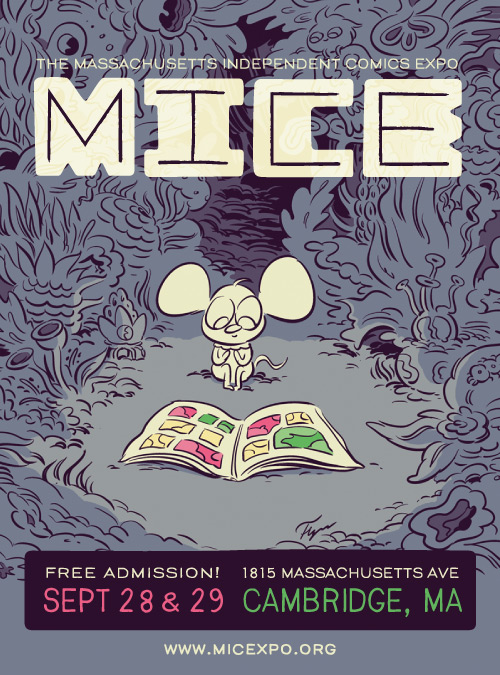 Poster for the 2013 Massachusetts Independent Comics Expo, art by Bob Flynn