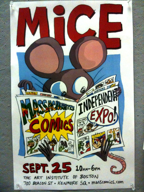 Promo poster for Massachusetts Independent Comics Expo