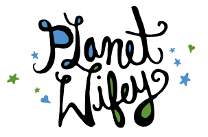 Logo for *Planet Wifey*, a webcomic by Clarence Smith Jr. and Cathy Leamy