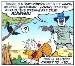 Panel from *The Life and Times of Scrooge McDuck*, the Australia story