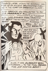 Panel - Dr. Strange cannot pay his pharmacy bills