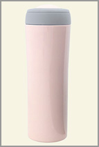 Pink thermal bottle from ReusableBags.com