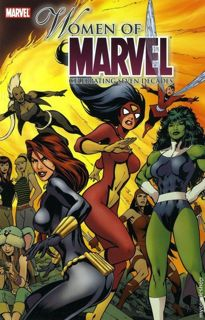 Cover of *Women of Marvel: Celebrating Seven Decades* paperback collection