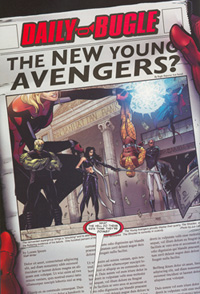 Scan of a page from Young Avengers issue 8