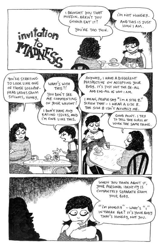 Cartoon about Raging Mary talking about the body, part 1