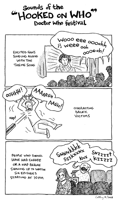 A comic about Kitty attending a Doctor Who festival