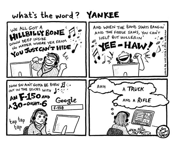 Comic - What's the Word? Yankee