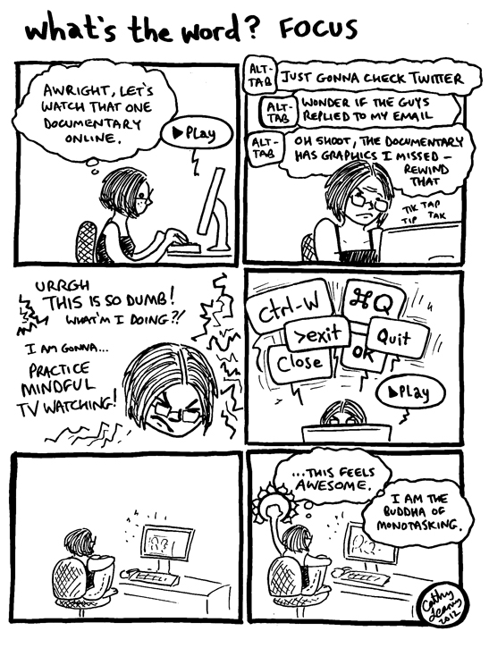 Comic - What's the Word? Focus